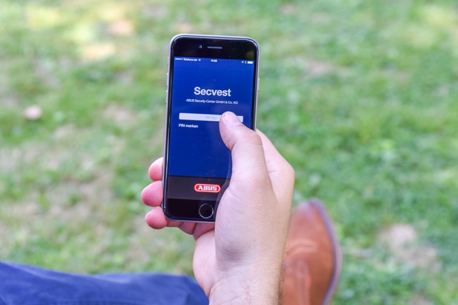 Fernbedienung einer Alarmanlage mittels App